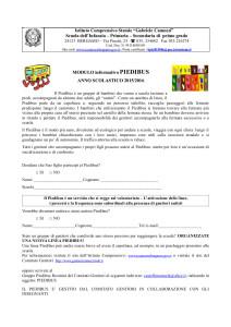 MODULO informativo PIEDIBUS 2015-2016